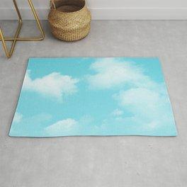 Aqua Blue Clouds Rug