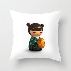 Kokeshi 01 Throw Pillow