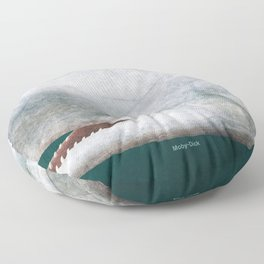 Herman Melville's Moby-Dick - Literary book cover design Floor Pillow