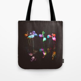 Rainbow Flamingos Tote Bag