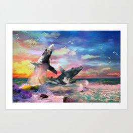 Nature In Ferocious Gale Art Print