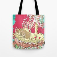 in the flesh Tote Bags featuring Flesh illustration by ArDem
