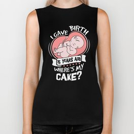 I Gave Birth 15 Years Ago Funny 15th Birthday Shirt For Moms Biker Tank