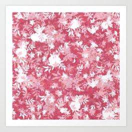 Elegant Pink Flowers Pattern Art Print