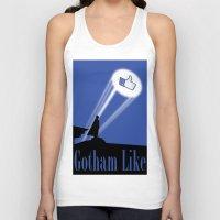 gotham Tank Tops featuring Gotham Like by Tony Vazquez