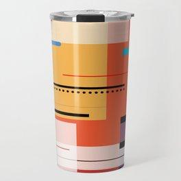 Abstract lines Art Travel Mug