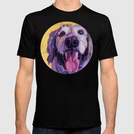 A Dog's Joy Golden Retriever Portrait T-shirt