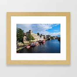 York City Guildhall and river Ouse Framed Art Print