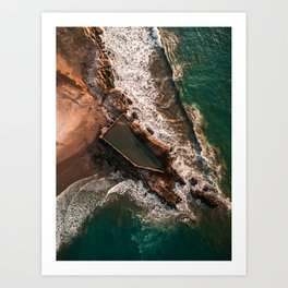 Salty Pool Art Print