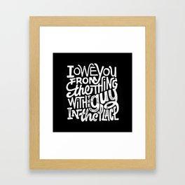 IOU Framed Art Print
