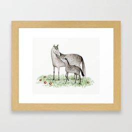 Mare & Foal Framed Art Print
