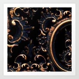 Frames On Black Art Print