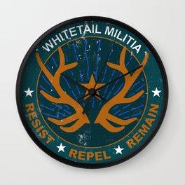 Whitetail Militia Wall Clock