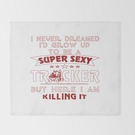 Super Sexy TRUCKER Throw Blanket