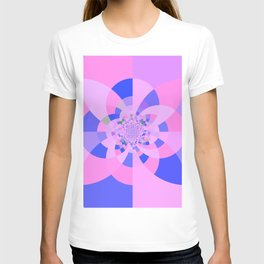 Lavender Purple Blue Kaleidoscope T-shirt