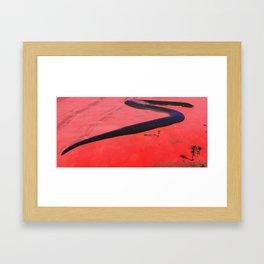 Small worm on the Cielago Depression Framed Art Print
