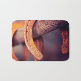 Horseshoes on Barn Wood Cowboy Country Western Bath Mat