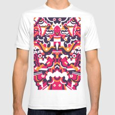 Tell Me What You See White MEDIUM Mens Fitted Tee