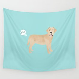 Yellow Lab funny fart dog breed gifts labrador retrievers Wall Tapestry