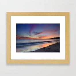 """Bolonia beach at sunset"" Framed Art Print"
