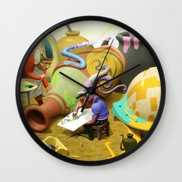 Jug painters Wall Clock