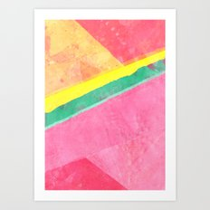 Twisted Melon Art Print