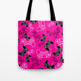 Video Games Pink Tote Bag