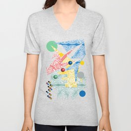 Abstract Lace Unisex V-Neck