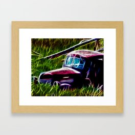 Truck Gone to Pasture Framed Art Print