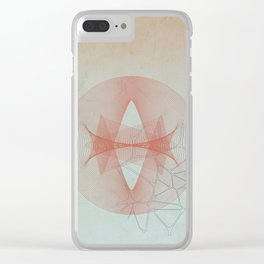 Abstract Scene - Sun Clear iPhone Case
