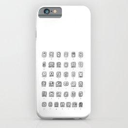 Mayan Hieroglyphs Alphabet Translation Guide iPhone Case