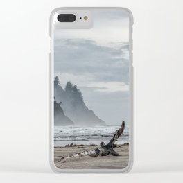 Hills And Mist At Proposal Rock Clear iPhone Case