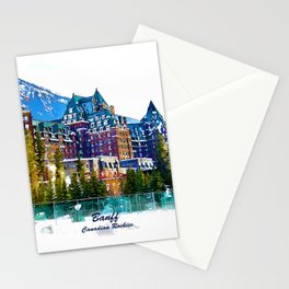 Castle in the Mountains - Banff Alberta Canada Stationery Cards