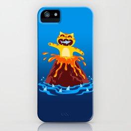Volcano Cat iPhone Case