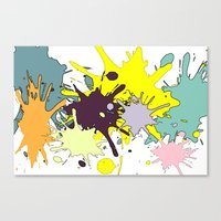 splatter Canvas Prints featuring Splatter by fauzita