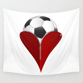 Love Soccer Wall Tapestry