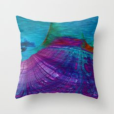 Undersea Exploration Throw Pillow