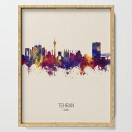 Tehran Iran Skyline Serving Tray