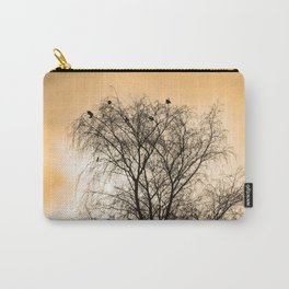 Sepia Roosting birds Carry-All Pouch