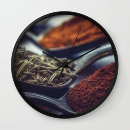 Spices and spoons Wall Clock