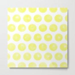 Yellow Spots Metal Print
