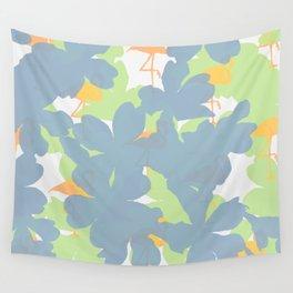 Primroses  Orange Flamingos Wall Tapestry