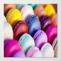 macaroons Canvas Prints featuring Macaroons by rosita