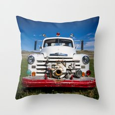 Old Fire Engine Throw Pillow