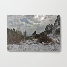 Winter In the City of Rocks Metal Print
