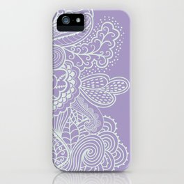 Purple Mehndi II iPhone Case