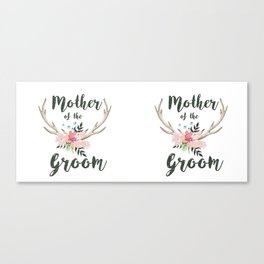 mother of the groom floral antlers Canvas Print