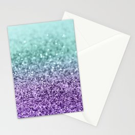 Mermaid Girls Glitter #9 #shiny #decor #art #society6 Stationery Cards