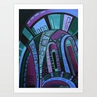 neon Art Prints featuring NEON by Deyana Deco