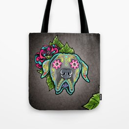 Great Dane with Floppy Ears - Day of the Dead Sugar Skull Dog Tote Bag